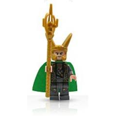 Super Heroes Loki Minifigure With Scepter